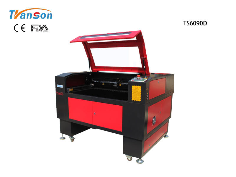 TS6090D Double Heads Laser Engraving Cutting Machine