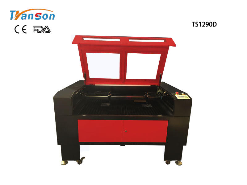 TS1290D Double Heads Laser Engraving Cutting Machine