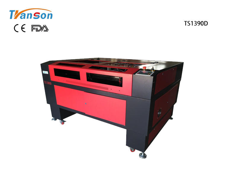 TS1390D Double Heads Laser Engraving Cutting Machine