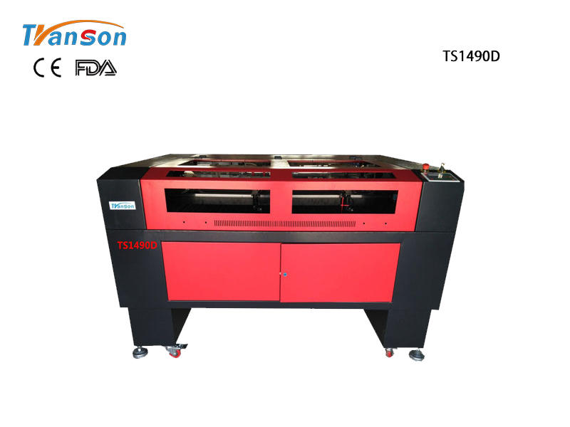 TS1490D Double Heads Laser Engraving Cutting Machine