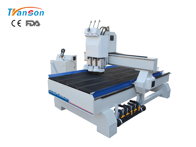 TSW1325 T3 Multi Spindle CNC Router Machine For Wood Furniture Industry