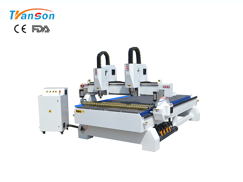 Multi Heads CNC Router Machine 3 Axis 4 Axis For Sale  TSW1530 2H