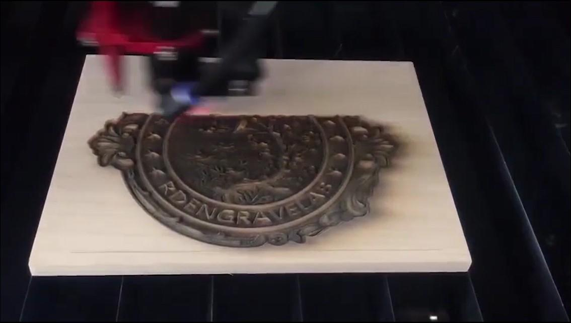 laser machine do 3D engrave on wood