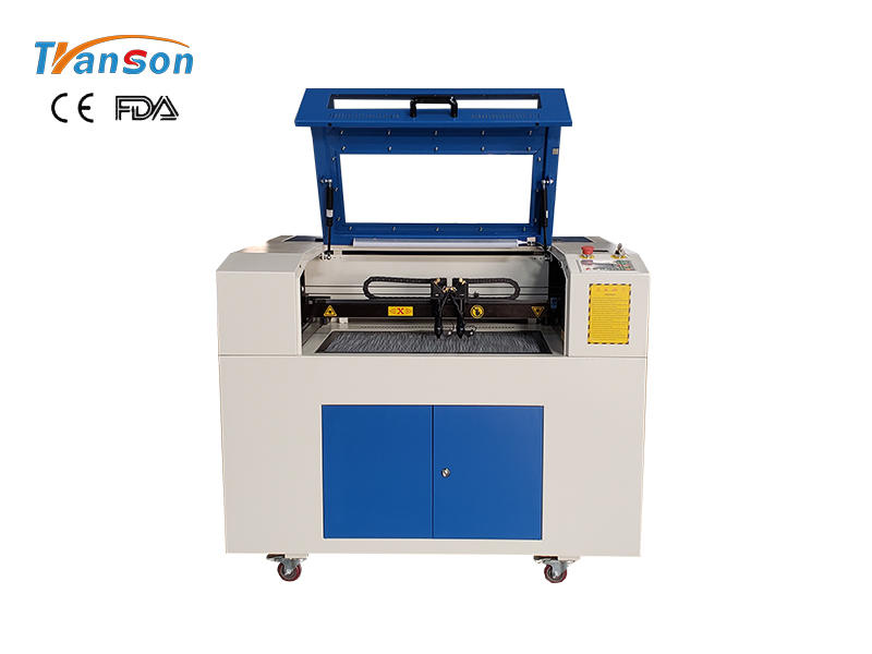 CO2 Laser and Fiber Laser in One Double headed Laser Engraving Cutting and Marking Machine