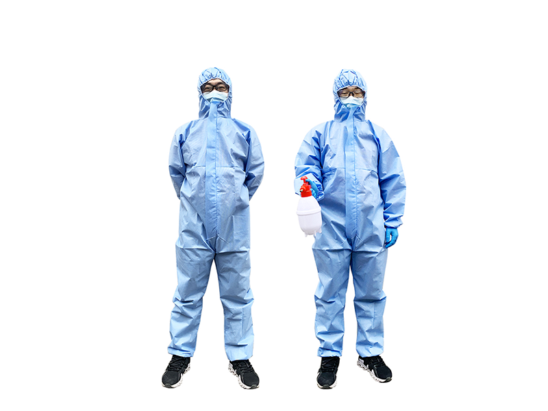 Disposable Safety Workwear Protective Suit Anti-bacterial Dustproof Air Permeable