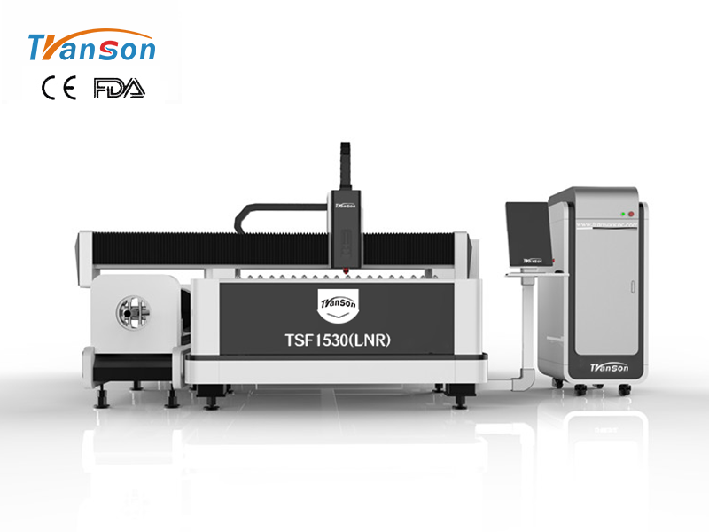 TSF1530 (LNR) metal tube and plate fiber laser cutting machine