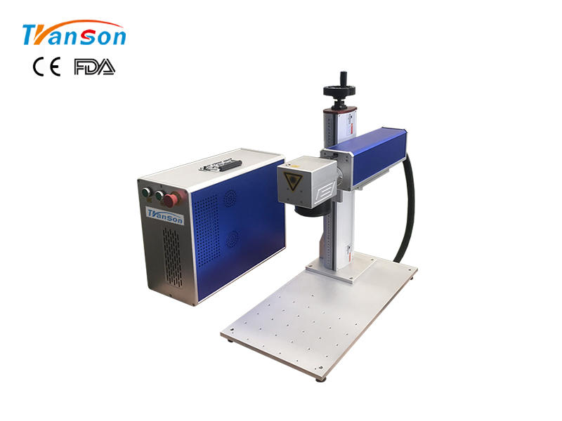 Mini Fiber Laser Marking Machine 20W 30W 50W For Gold Silver Steel Aluminum