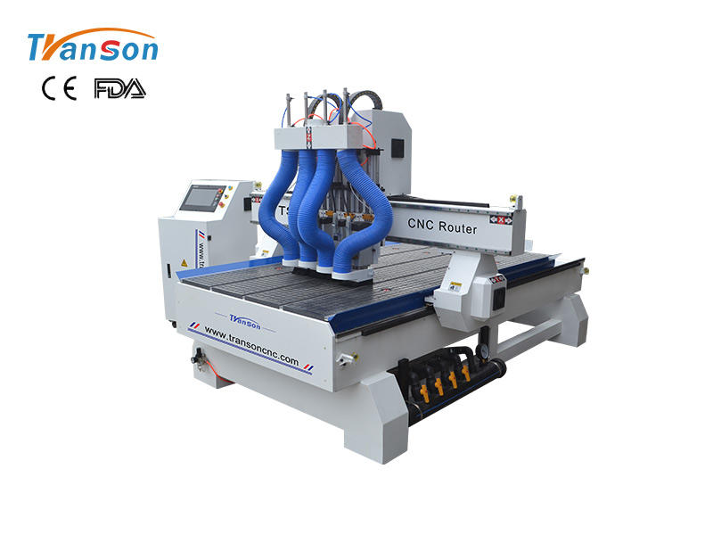 TSW1325 T4 Multi Spindle CNC Router Machine For Wood Furniture Industry