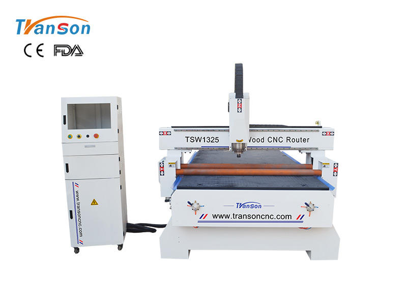 TSW1325 wood cnc router machine with pressure wheel