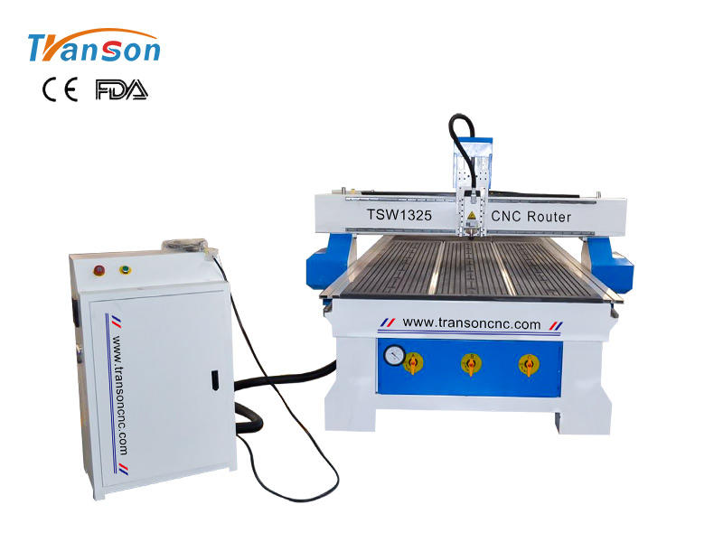 TSW1325 CNC router machine 3KW with DSP controller T-slat almuminum T-slot vacuum worktable