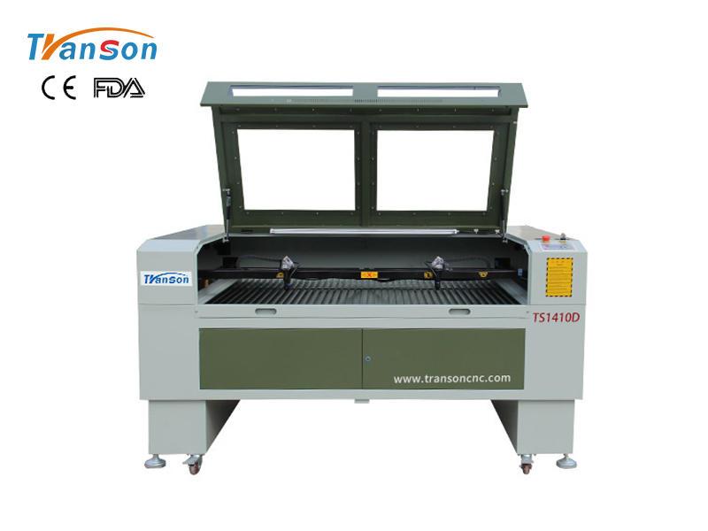 TS1410D double headed CO2 laser machine