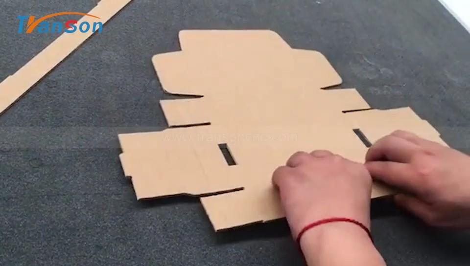 Carton box cutting video