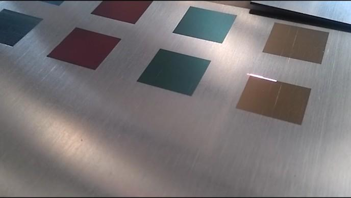 MOPA colorful marking on stainless steel