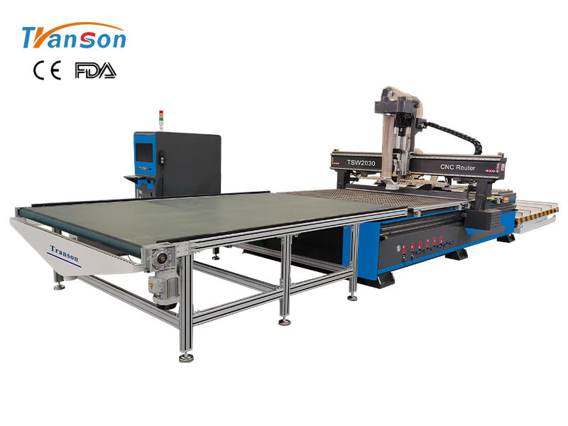 Auto loading and unloading nesting cnc router machine for wood furniture production