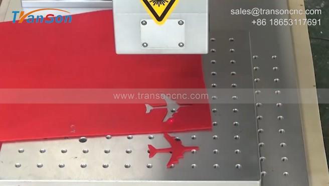 30W RF Laser Marking machine cutting nonwoven cloth