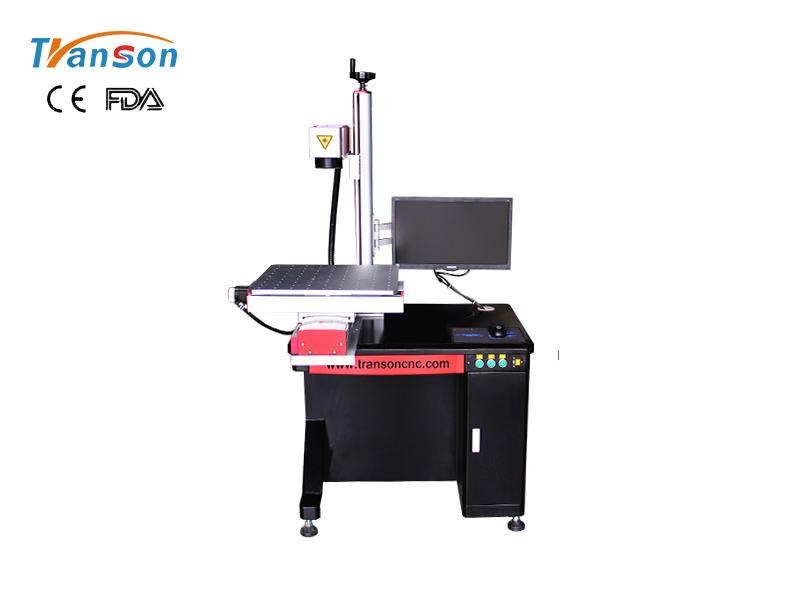 Desktop Fiber Laser Marking Machine with slider worktable 20W 30W 50W 100W