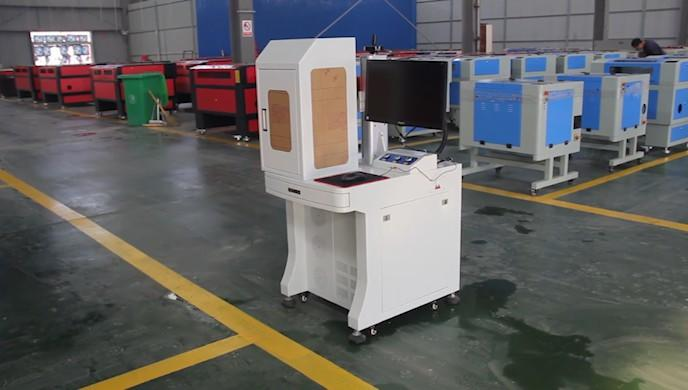 Enclosed desktop fiber laser marking machine
