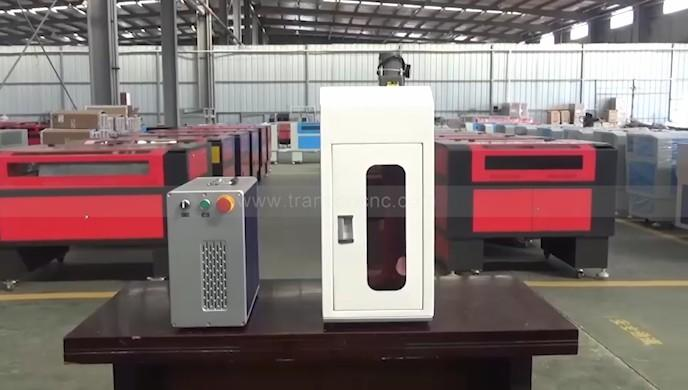 Enclosed mini fiber laser marking machine mark photo on stainless steel