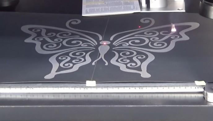 400x400mm area fiber laser marking machine engrave butterfly