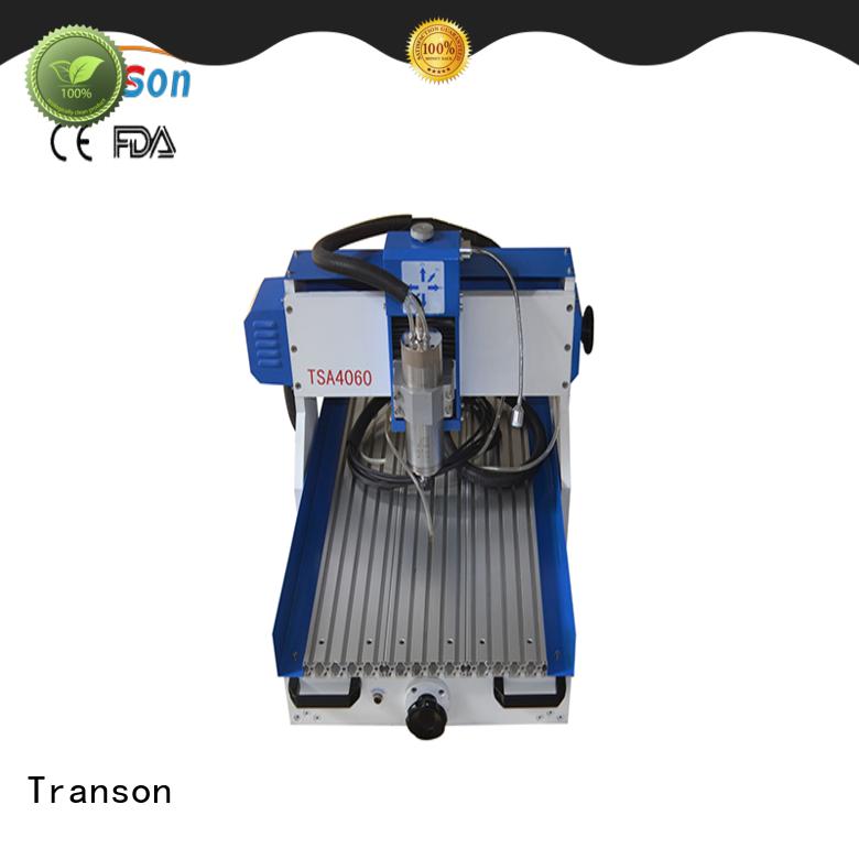 Transon 6090 cnc router metal engraving