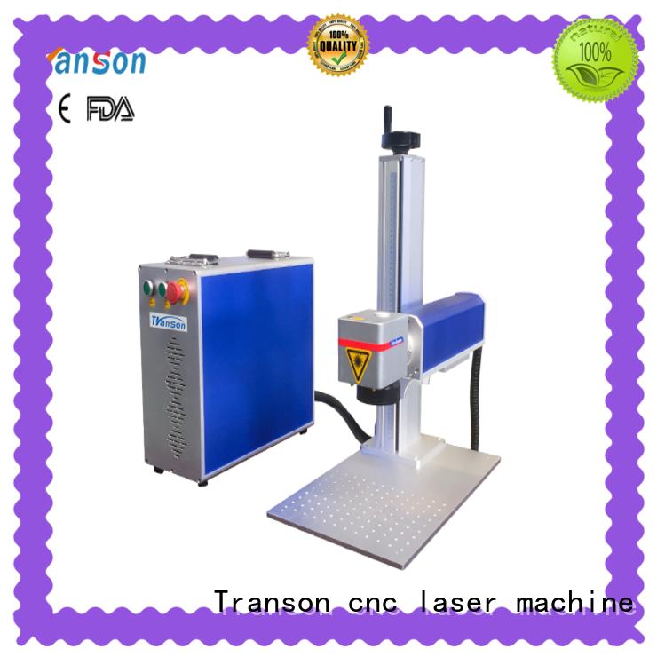 Transon fiber laser marking machine stainless steel marking