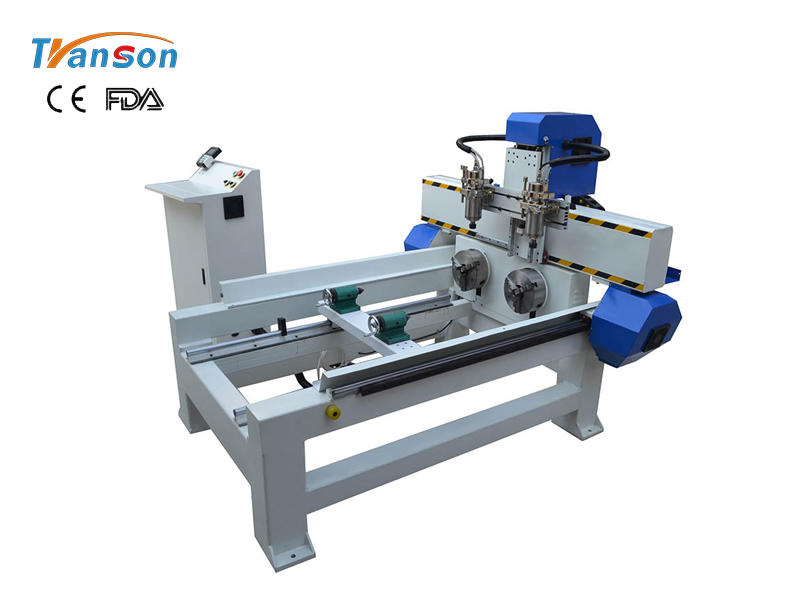 4 Axis TSA6090 CNC Router With Two Spindle Two Rotary Device