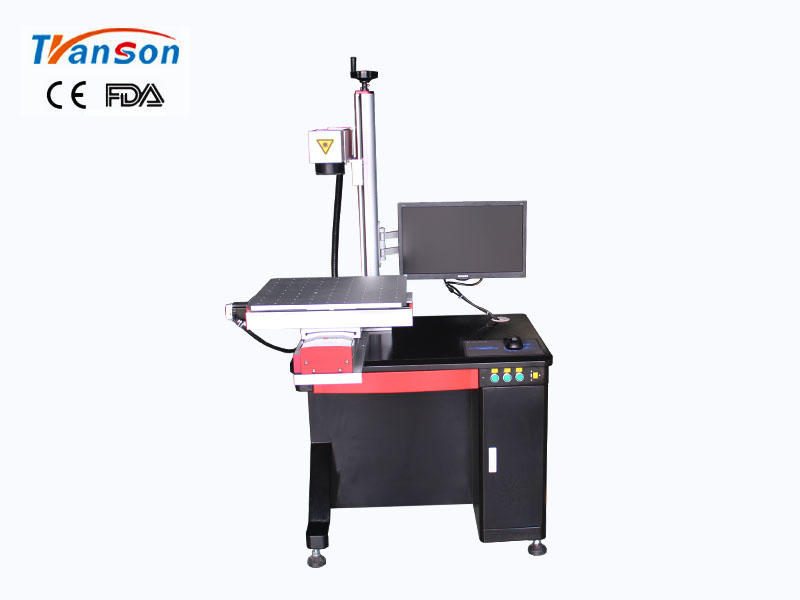 Desktop Fiber Laser Marking Machine with slider worktable  20W 30W 50W 100W