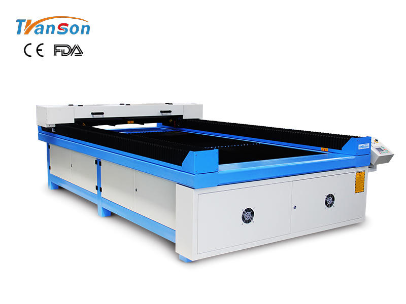 TS1325 ball screw CO2 laser cutting and engraving machine