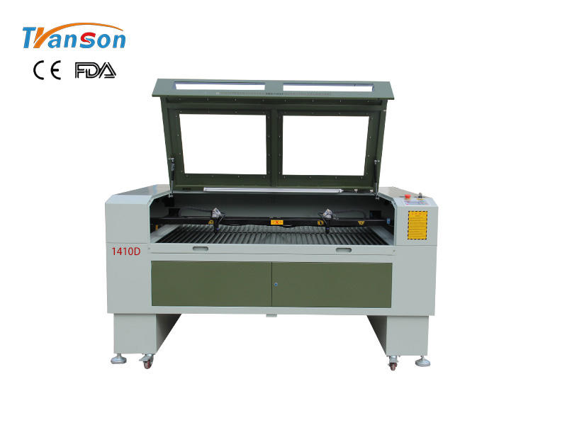 TS1410D double headed CO2 laser machine