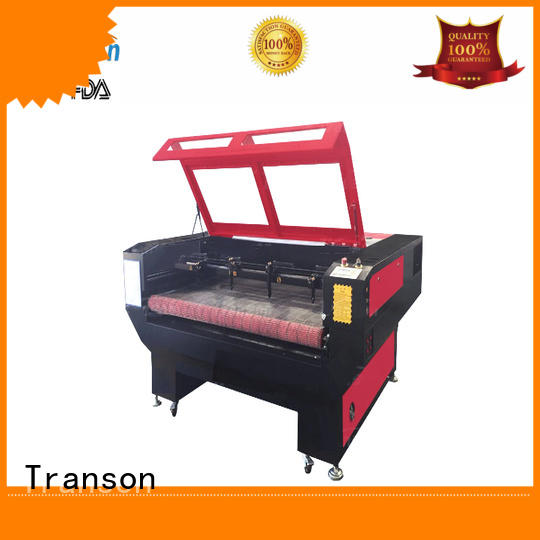 Transon odm laser cutting machine for leather popular advanced technology