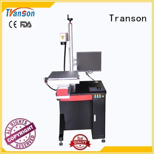 Transon industrial fiber laser marker stainless steel marking